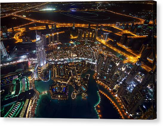 Dubai Skyline Canvas Print - Dubai by Rui Caria