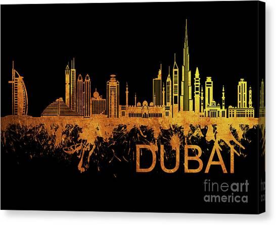 Dubai Skyline Canvas Print - Dubai Skyline 5 by Prar Kulasekara