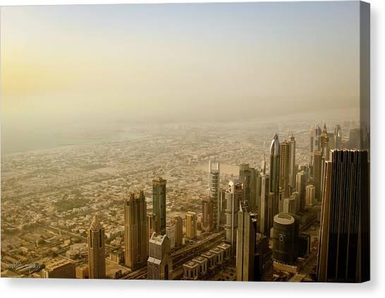 Dubai Skyline Canvas Print - Dubai Skyline by Aashish Vaidya