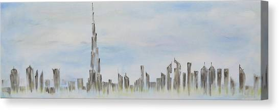 Dubai Skyline Canvas Print - Dubai Skyline by Caroline Kirkwood