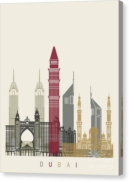 Dubai Skyline Canvas Print - Dubai Skyline Poster by Pablo Romero