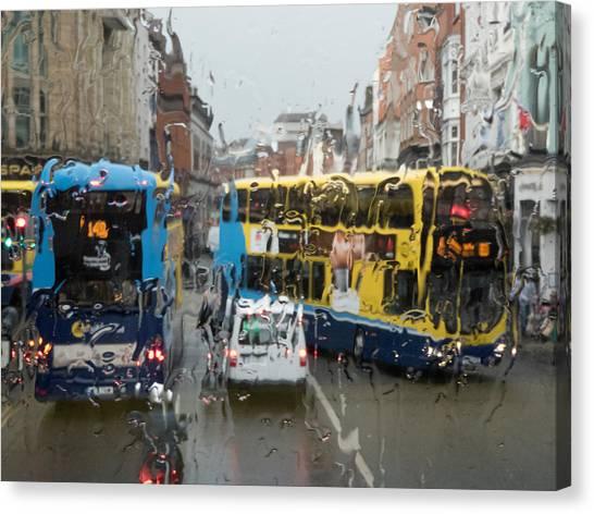 Dublin In The Rain 1 Canvas Print