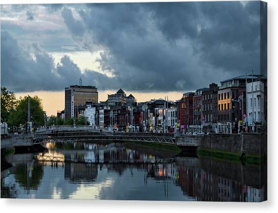 Dublin Sky At Sunset Canvas Print