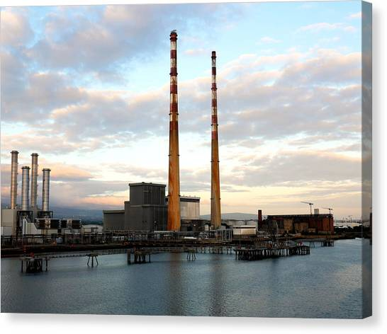 Dublin's Poolbeg Chimneys Canvas Print