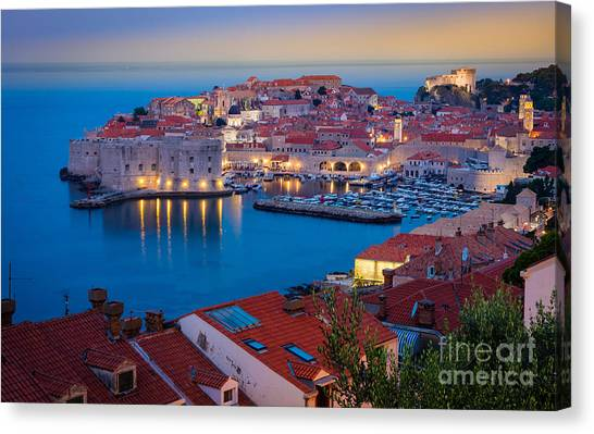 Fortification Canvas Print - Dubronvik Dawn by Inge Johnsson