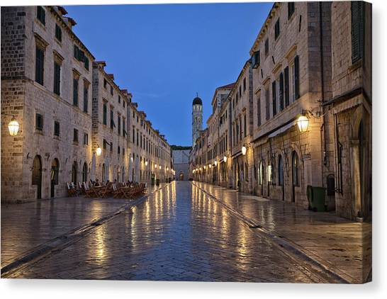 Contemporary Art Canvas Print - Dubrovnik by Contemporary Art