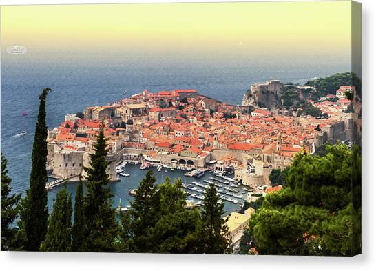 Dubrovnik Old City On The Adriatic Sea, South Dalmatia Region, C Canvas Print