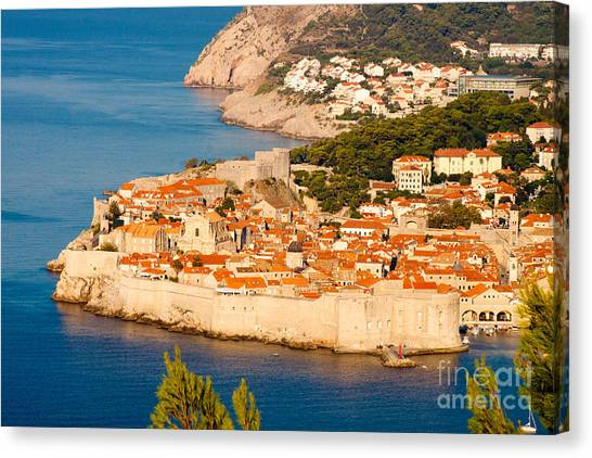 Dubrovnik Old City Canvas Print