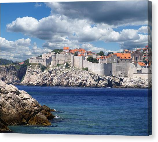 Dubrovnik On The Adriatic Canvas Print