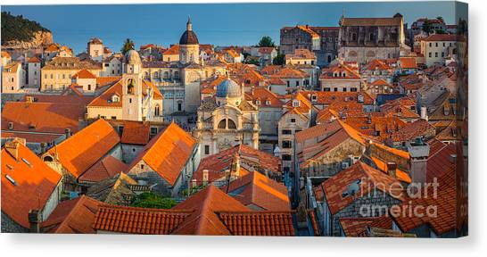 Fortification Canvas Print - Dubrovnik Panorama by Inge Johnsson