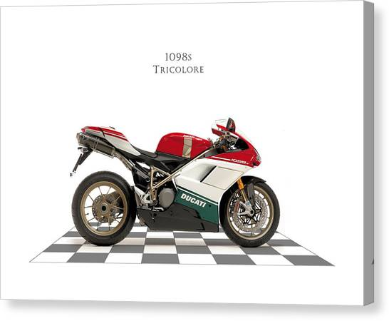 Ducati Canvas Print - Ducati 1098s Tricolore by Mark Rogan