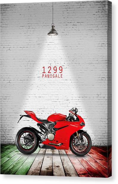 Ducati Canvas Print - Ducati 1299 Panigale by Mark Rogan