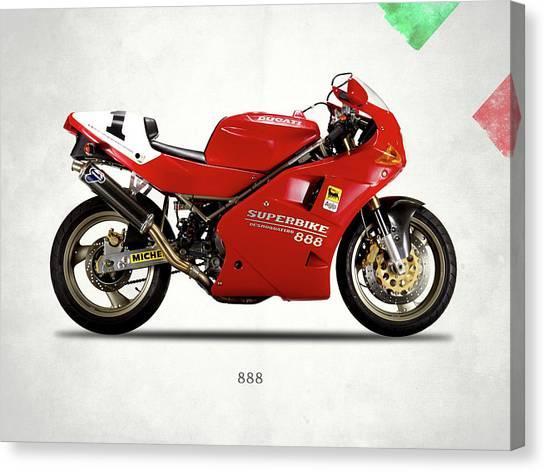 Ducati Canvas Print - Ducati 888 by Mark Rogan