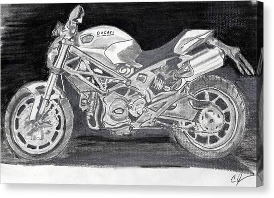 Ducati Canvas Print by Cathy Jourdan