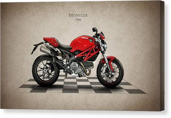 Ducati Canvas Print - Ducati Monster 796 by Mark Rogan