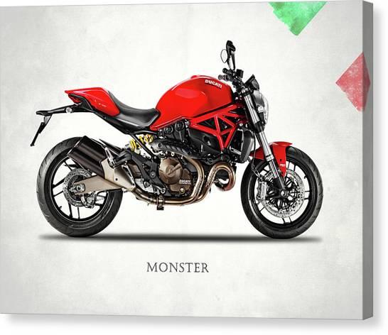 Ducati Canvas Print - Ducati Monster 821 by Mark Rogan