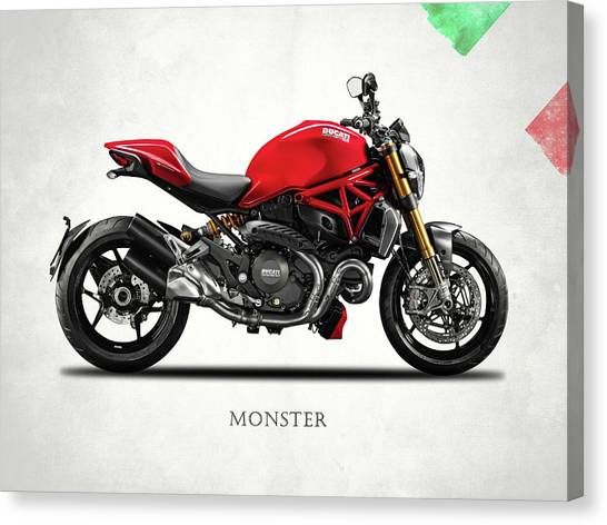 Ducati Canvas Print - Ducati Monster by Mark Rogan