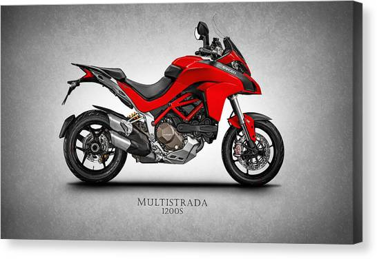 Ducati Canvas Print - Ducati Multistrada by Mark Rogan