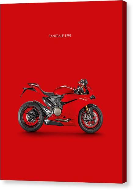 Ducati Canvas Print - Ducati Panigale 1299 by Mark Rogan