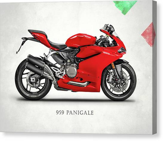 Ducati Canvas Print - Ducati Panigale 959 by Mark Rogan