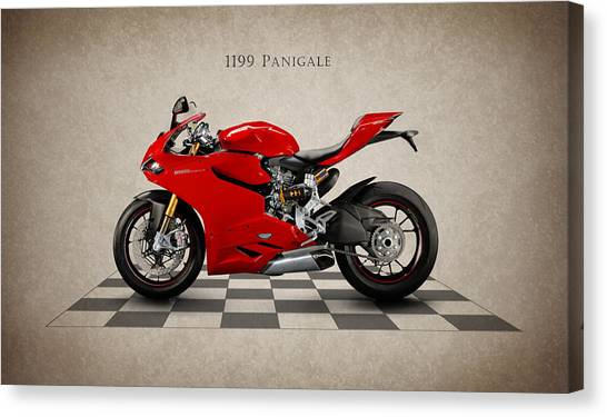 Ducati Canvas Print - Ducati Panigale by Mark Rogan