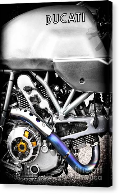 Ducati Canvas Print - Ducati Ps1000le Engine by Tim Gainey