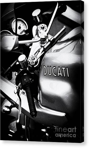 Ducati Canvas Print - Ducati Ps1000le Motorcycle  by Tim Gainey