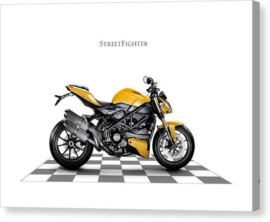 Street Fighter Canvas Print - Ducati Streetfighter by Mark Rogan