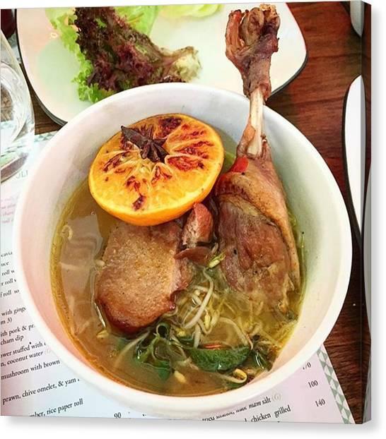 Vietnamese Canvas Print - Duck Braised In Mandarin Juice & Star by Arya Swadharma