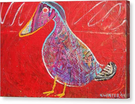 Duck Canvas Print by Dave Kwinter