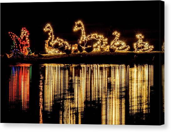 Duck Pond Christmas Canvas Print