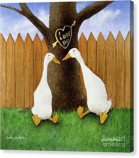 Ducky In Love... Canvas Print by Will Bullas