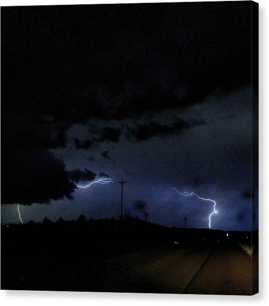 Dueling Lightning Bolts Canvas Print