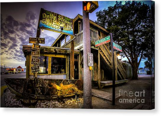 Duffy Street Seafood Shack Canvas Print