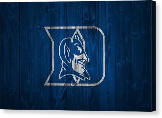 Duke University Canvas Print - Duke Blue Devils Barn Door by Dan Sproul