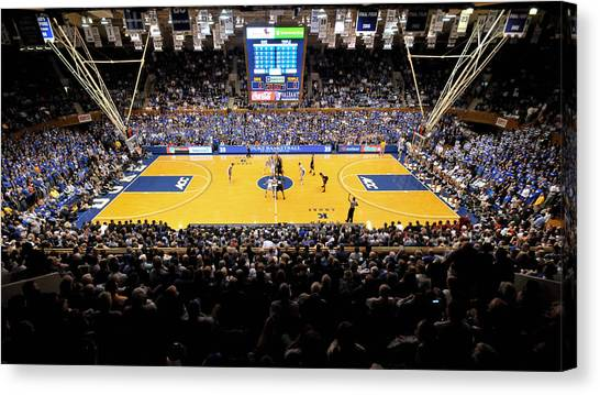 Temple University Canvas Print - Duke Blue Devils Cameron Indoor Stadium by Replay Photos