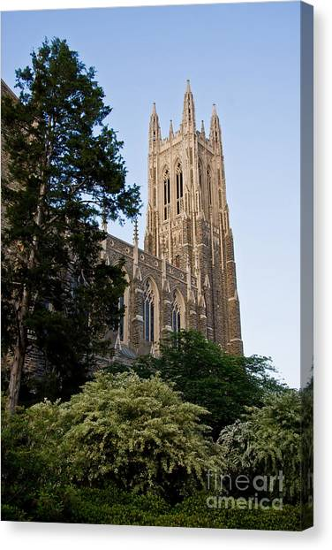 Duke Chapel Side View Canvas Print