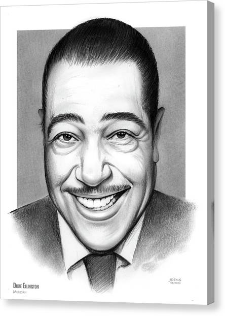 Duke University Canvas Print - Duke Ellington 2 by Greg Joens