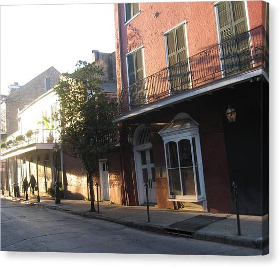 Dumaine Street Morning Canvas Print by Tom Hefko