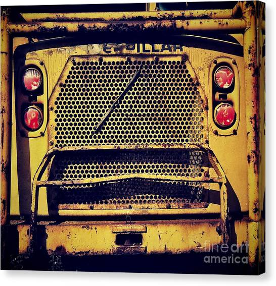 Dump Trucks Canvas Print - Dump Truck Grille by Amy Cicconi