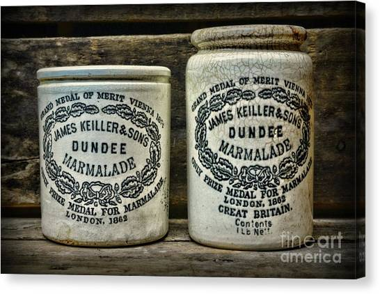 Crock Canvas Print - Dundee Marmalade Country Kitchen  by Paul Ward