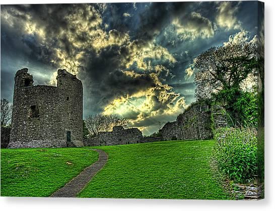Dundrum Castle Rays Canvas Print by Kim Shatwell-Irishphotographer