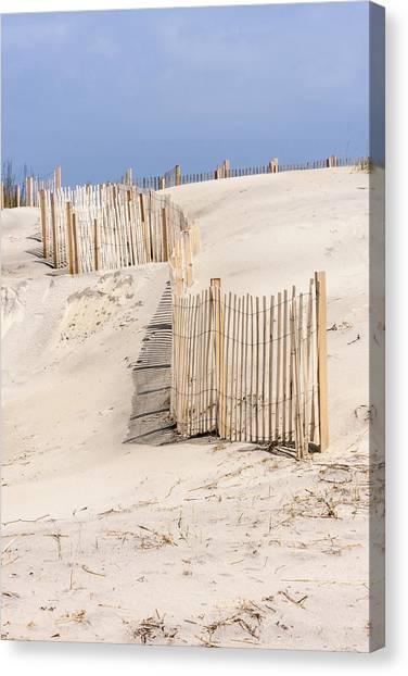 Dune Fence Portrait Canvas Print