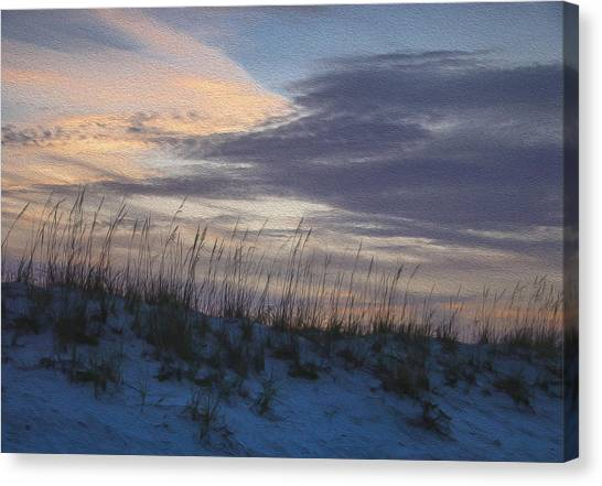 Dune Grass Blue Canvas Print
