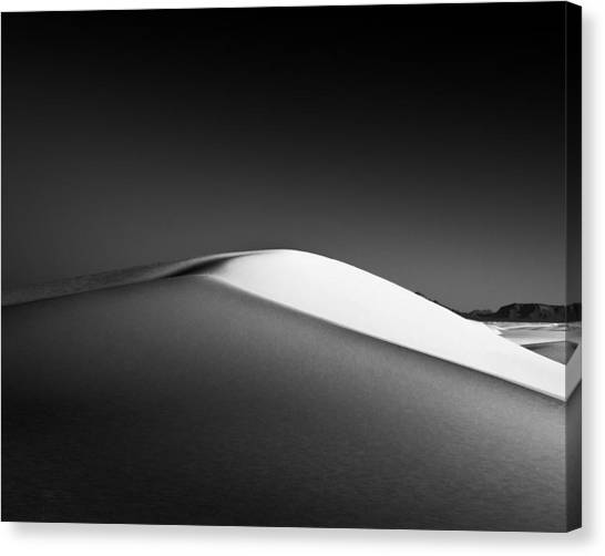 White Sand Canvas Print - Dune by Joseph Smith