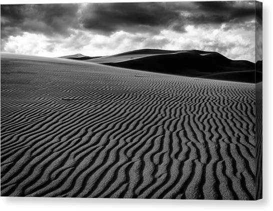 Canvas Print featuring the photograph Dune Lines by Stephen Holst