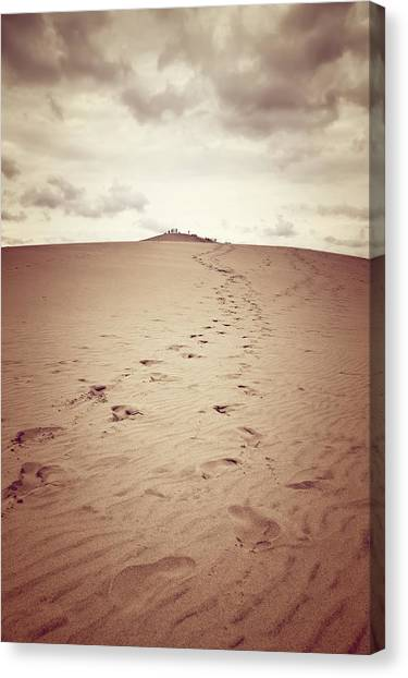 Sandy Desert Canvas Print - Dune Of Pilat, The Tallest Sand Dune In Europe by GoodMood Art