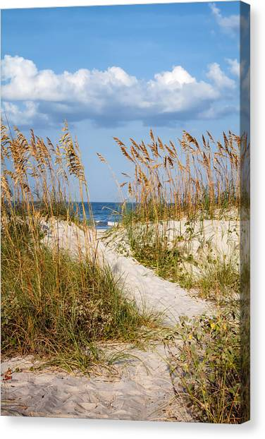 Fernandina Beach Canvas Print - Dune Pathway At The Beach by Dawna Moore Photography
