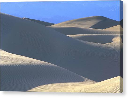 Dunes And Blue Mountains Canvas Print