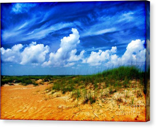 Dunes At Bald Head Island Canvas Print